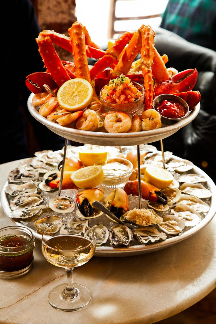New Year's EveParty Time / lovely tiered server Seafood