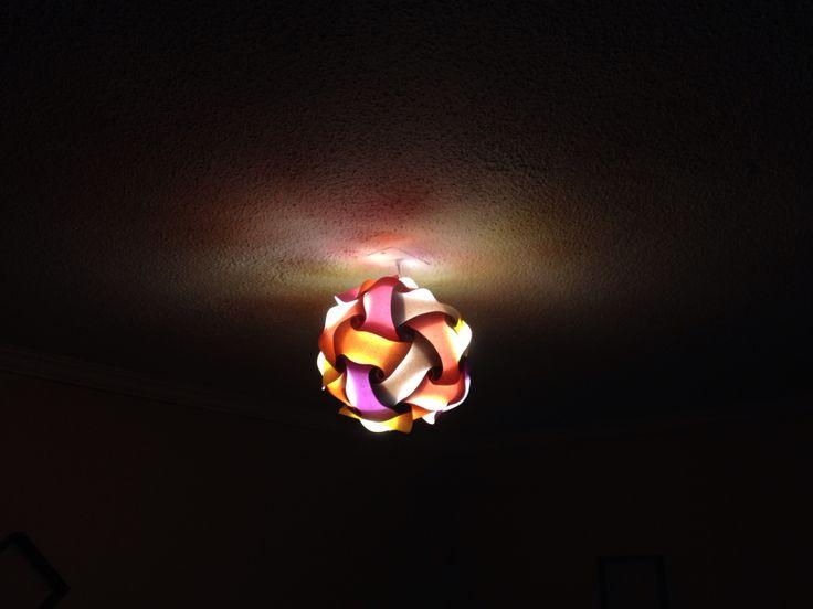 Lámpara ensamblada