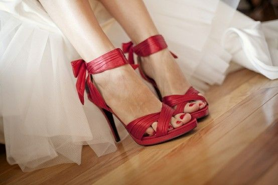 red wedding shoes by jewels42