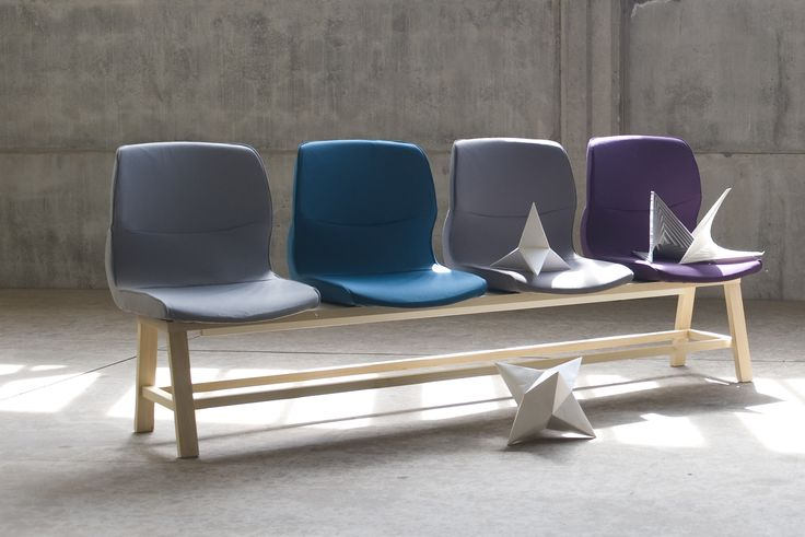 Office+Retrofit 4 seat bench, designed by Sovrappensiero, in cooperation with Milan Politecnico University
