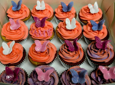 Butterfly cupcakes from the Cupcake Shop