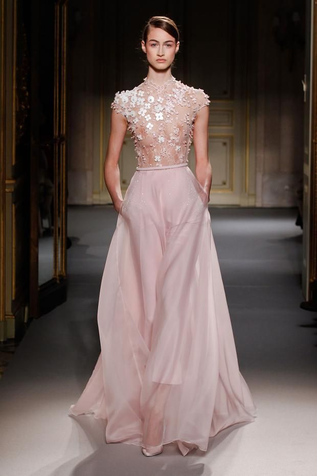 Sheer, floaty, romantic dress with floral applique & embellishments #feminine #fashion
