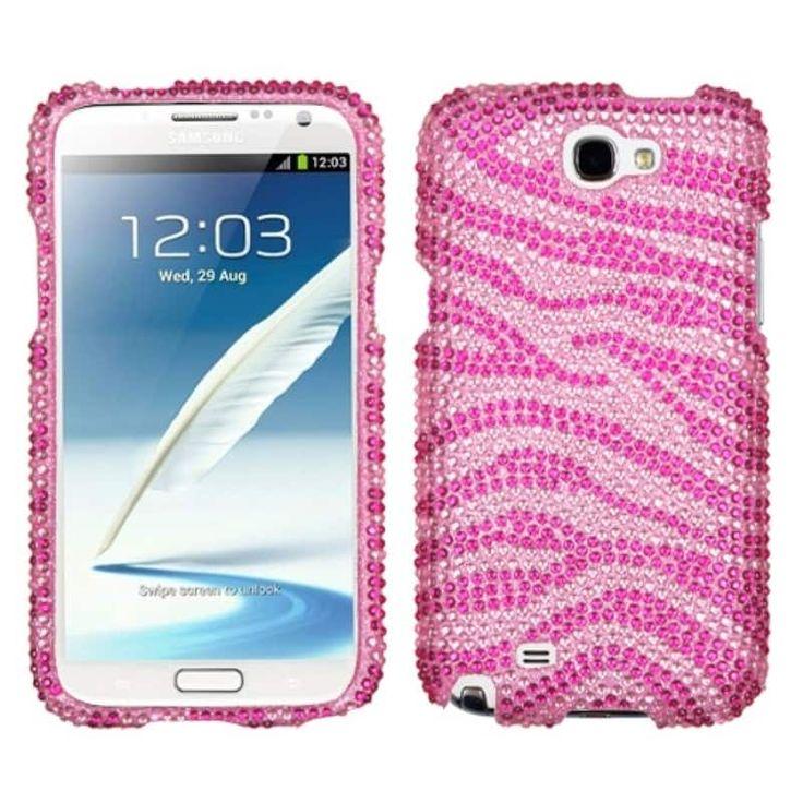 Insten Zebra Diamante Protector Case Cover for Samsung Galaxy Note II