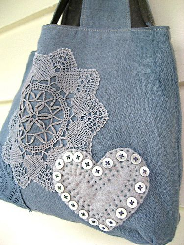 Grey Linen Bag by AllThingsPretty, via Flickr