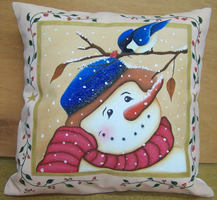 Cojin de navidad Pintado a mano ARTE y MODA CARDONA