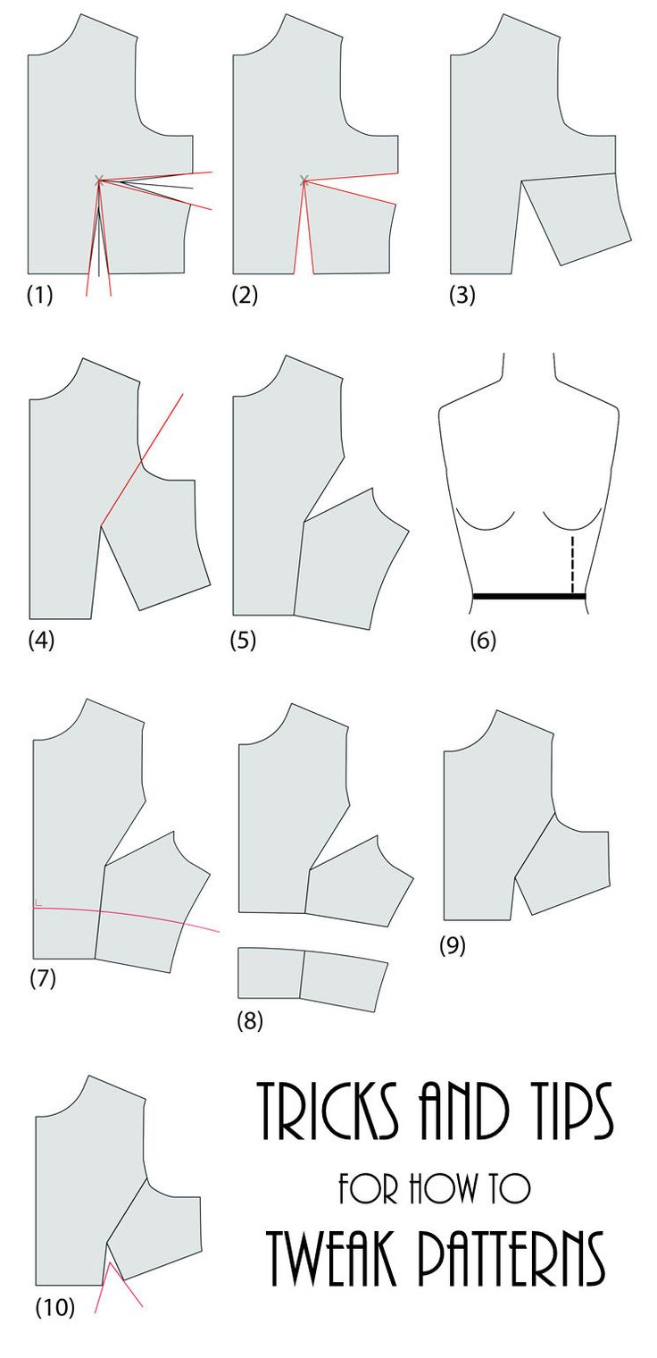 How to take a basic bodice sewing pattern and tweak it for a different design.