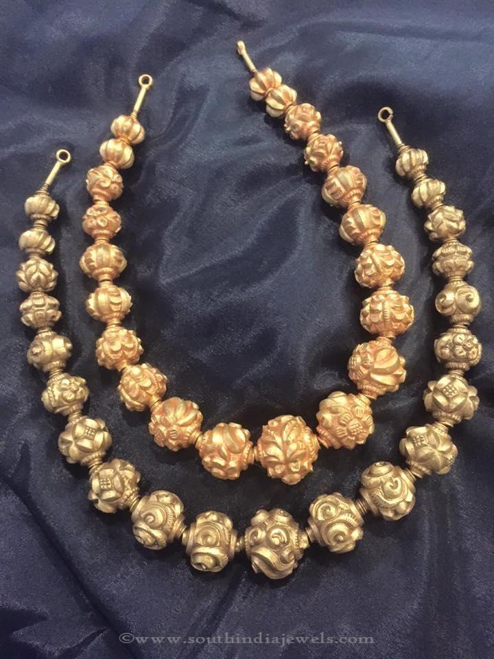 22K Gold Antique Necklace Designs, Antique Gold Necklace Designs, Antique Gold Necklace Catalogue.