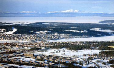 Vinter vy över Östersund