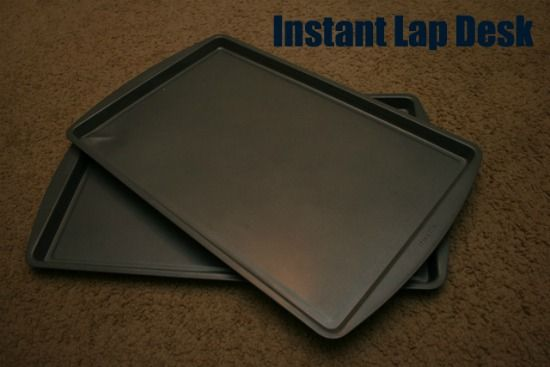 like the cookie sheet idea as a lap desk for road trip - plus this site has 25+ Activities for a Road Trip with Kids