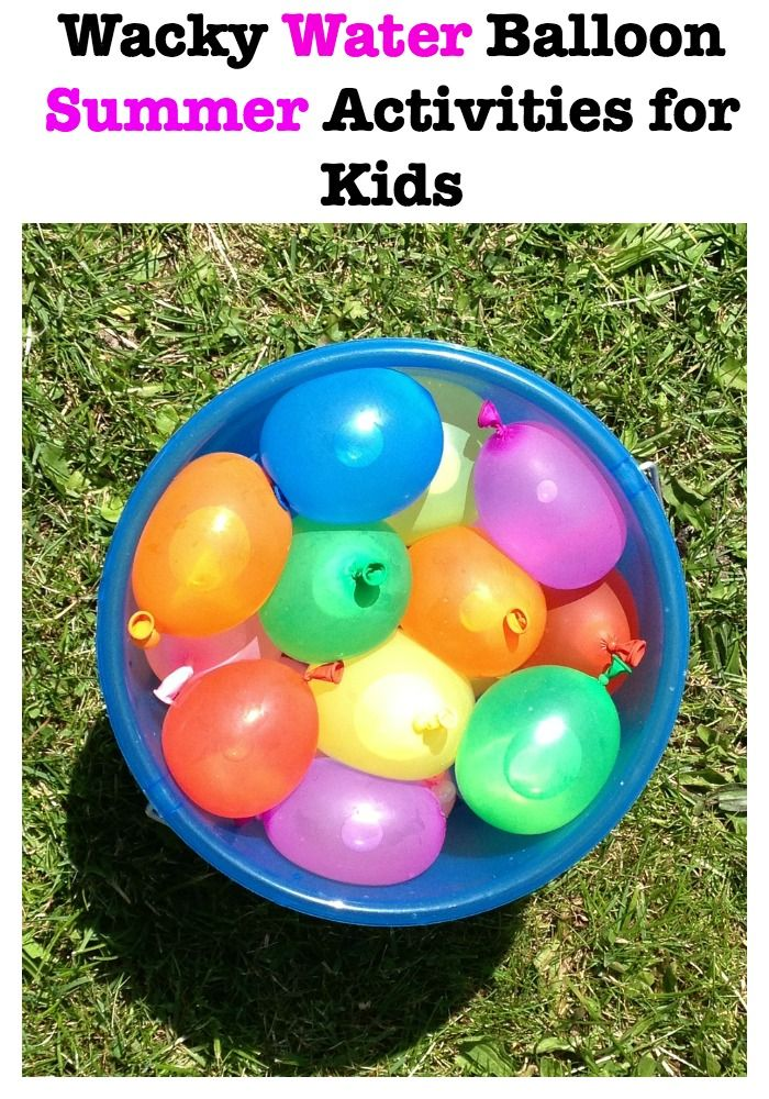 These fun summer activities for kids use water balloons to help keep them refreshed while giving them a chance to get active in the hot summer days!