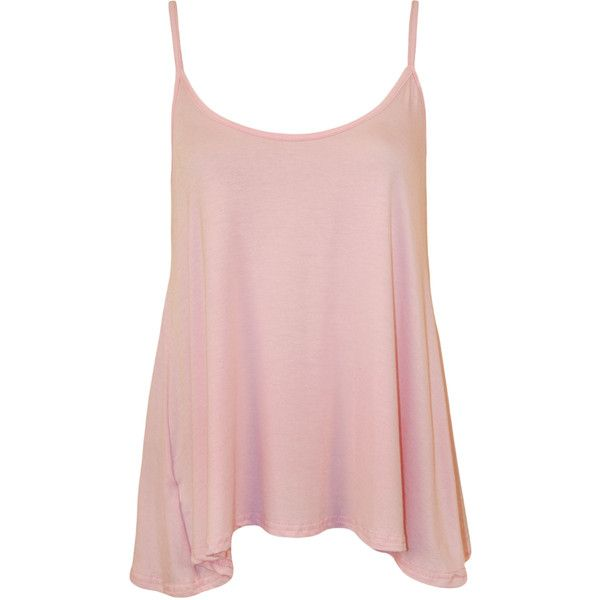 Dalia Strappy Swing Top ($9.31) ❤ liked on Polyvore featuring tops, shirts, pink, tanks, holiday shirts, trapeze top, strap shirt, stretch tank top и summer shirts