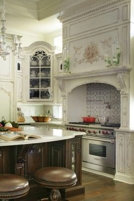French Country Kitchen by Habersham - Love The Range, Hearth and Island Design.