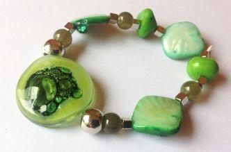 Brazaletes pulseras , joyas en Vitrofusion , Bijouterie , Joyeria , Bisuteria , Pintado a Mano