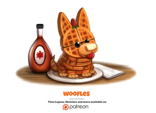 Daily 1354. Woofles by Cryptid-Creations Time-lapse, high-res and WIP sketches of my art available on Patreon (:Twitter • Facebook • Instagram • DeviantART