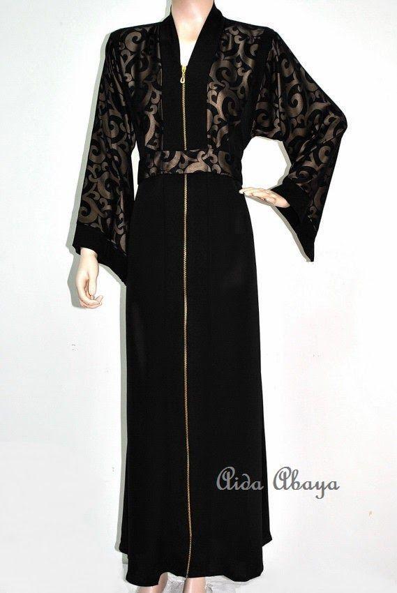 Welcome to Aida Abaya Shoppe : Exclusive Dubai Abaya and Saudi Arabia Abaya 2014 Collection: DUBAI ABAYA WITH ZIPPER- NEW