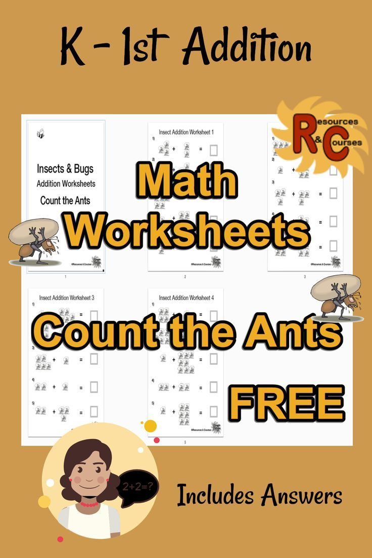 Math Single Digit Addition Count The Ants Worksheets Free Worksheets Free Homeschool Programs Math [ 1103 x 736 Pixel ]