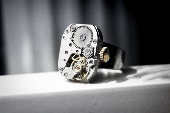 Steampunk BDSM men's jewelry Ring jeweled Soviet от SteampunkBDSM