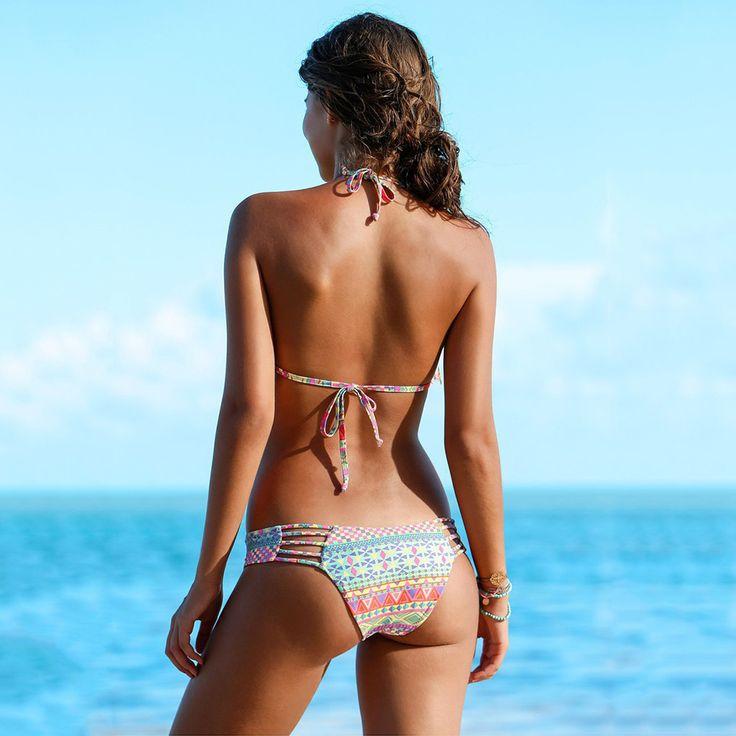 Bikini 2017 Sexy Bikinis Women Halter Swimsuit With Tassel Brazilian Bikini Set Summer Beach Bathing Suit Micro Swimwear Bottoms