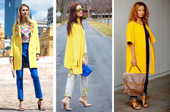 Looks abrigo amarillo