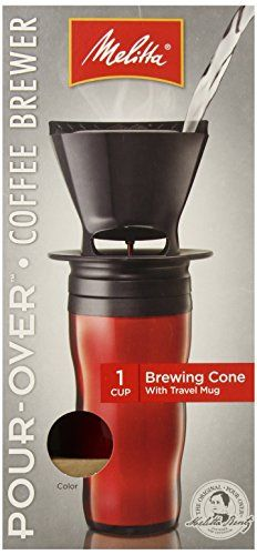 Melitta Coffee Maker, Single Cup Pour-Over Brewer with Travel Mug, Red (Pack of 2) - http://teacoffeestore.com/melitta-coffee-maker-single-cup-pour-over-brewer-with-travel-mug-red-pack-of-2/