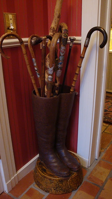 I really like this collection of walking canes from Polo House blog.