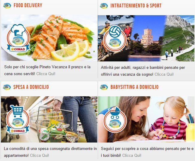 Scopri i #serviziesclusivi Pineto Vacanza 2015: http://pinetovacanza.it/pineto-vacanza/food-delivery.html http://pinetovacanza.it/pineto-vacanza/spesa-a-domicilio.html http://pinetovacanza.it/pineto-vacanza/babysitting-a-domicilio.html http://pinetovacanza.it/pineto-vacanza/intrattenimento-e-sport.html