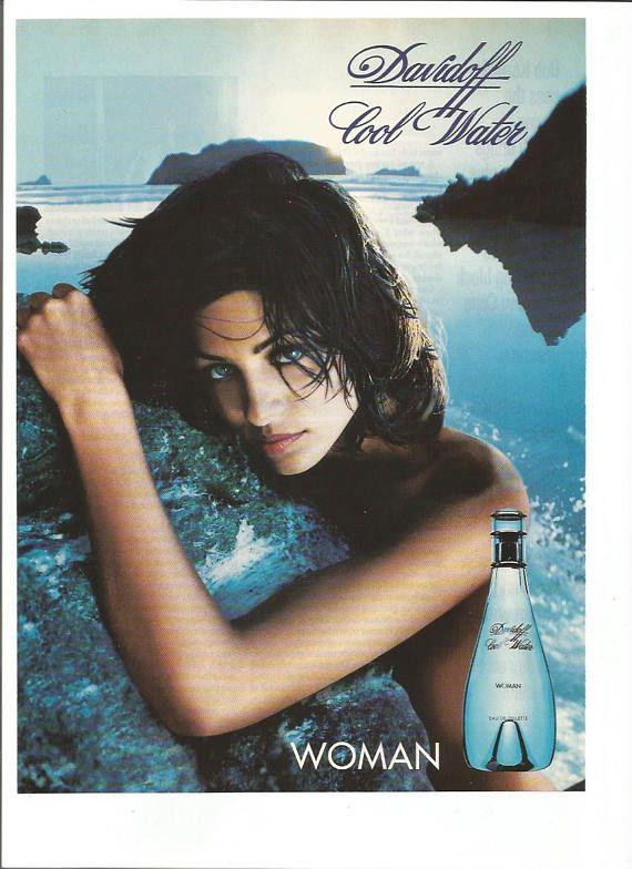 1997 Advertisement Davidoff Woman Cool Water Eau De Toilette Davidoff Beach Wall Art Decor Women