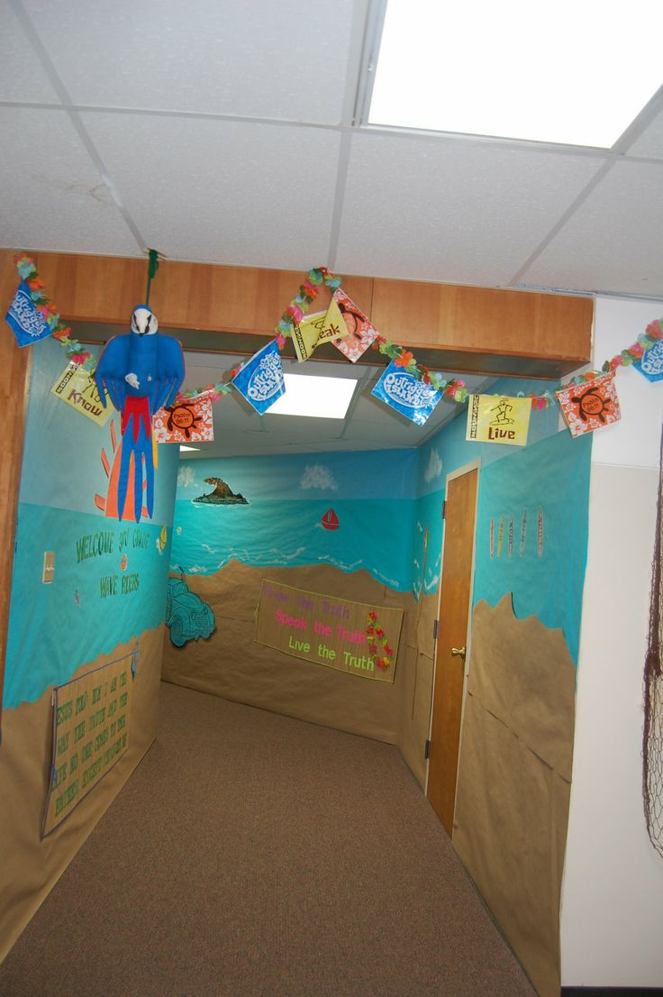 Classroom Beach Decor : Best submerged vbs images on pinterest fish