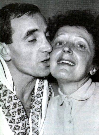 Edith avec Charles Aznavour