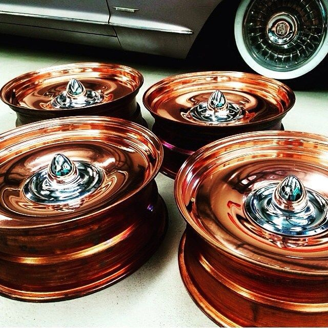 Copper Plated Detroit Steel Wheels