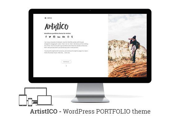 ArtistICO - portfolio Wordpress Theme by NiteoThemes on @creativemarket