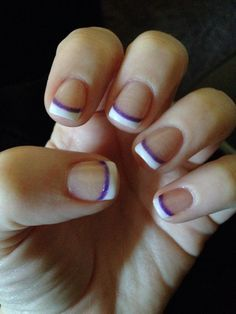 French manicure with a purple twist! I got so many compliments on the cruise w this design :)