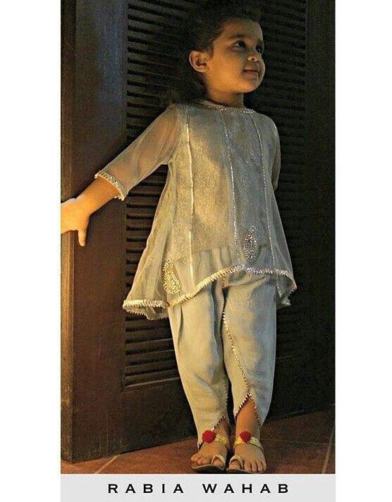 Pakistani kids outfit by Rabia Wahab. Cutie!