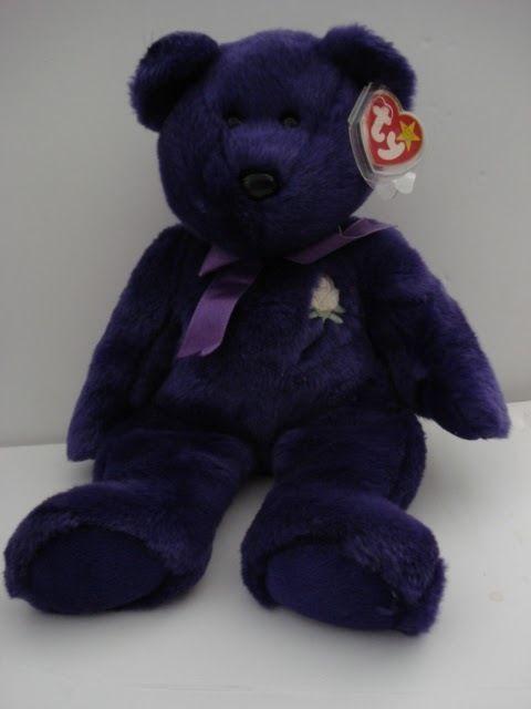TY Beanie Baby Princess Dianna Bear 1998 Plush Toy #Ty