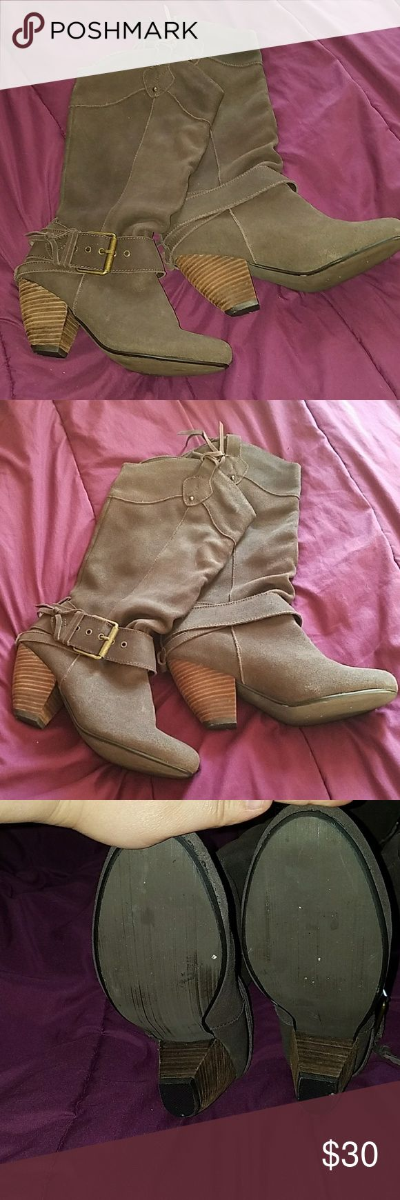 Naughty Monkey cowboys and Indians boots Naughty Monkey cowboy style boots that I absolutely adore, but sadly can't walk in heels ???? Never worn outside, worn around the house 3x and sat in the closet. naughty monkey Shoes Heeled Boots