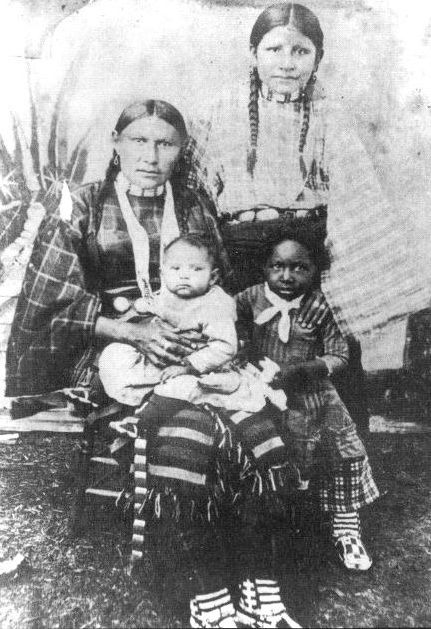 """""""Many Native Americans welcomed African Americans into their villages. Even as slaves many African Americans became part of a family group, and many intermarried with Native Americans. Many later became classified as Black Indians"""""""