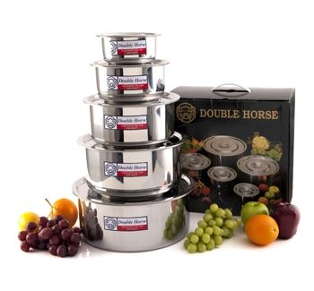 Numerical set of cooking for a larger family of stainless steel