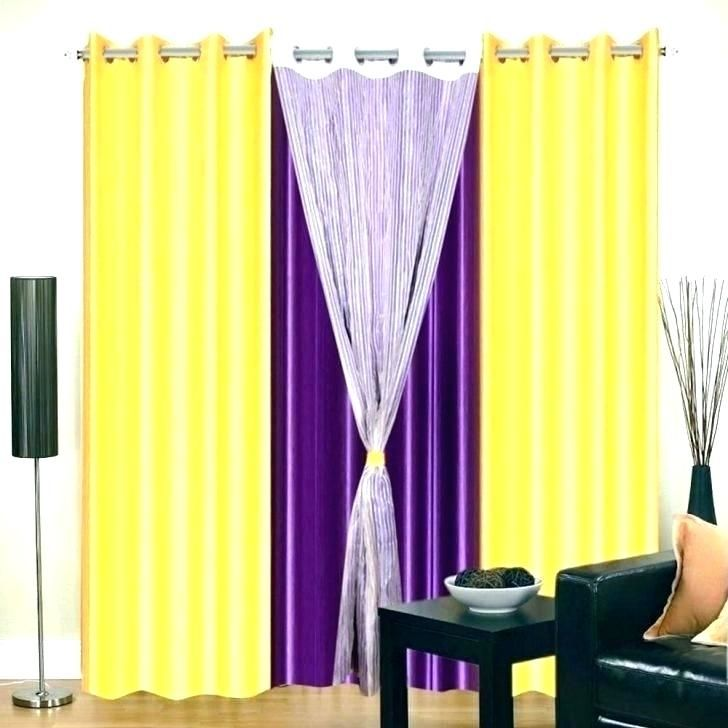 Purple Yellow Home Decorating Ideas Bedroom Curtain Design Purple Yellow Home Decorating Ideas Decor Homedecor Homedecorideas Decoration #purple #and #yellow #living #room