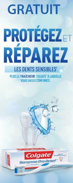Échantillon de dentifrice Colgate  Pro-Relief.  http://rienquedugratuit.ca/echantillon-gratuit/dentifrice-colgate-pro-relief/
