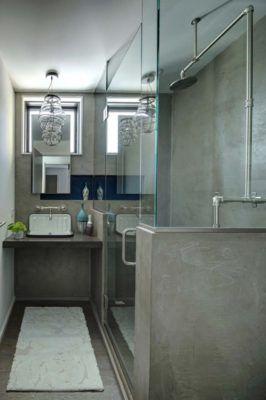If you have a long narrow space for bathroom.. here's the design...