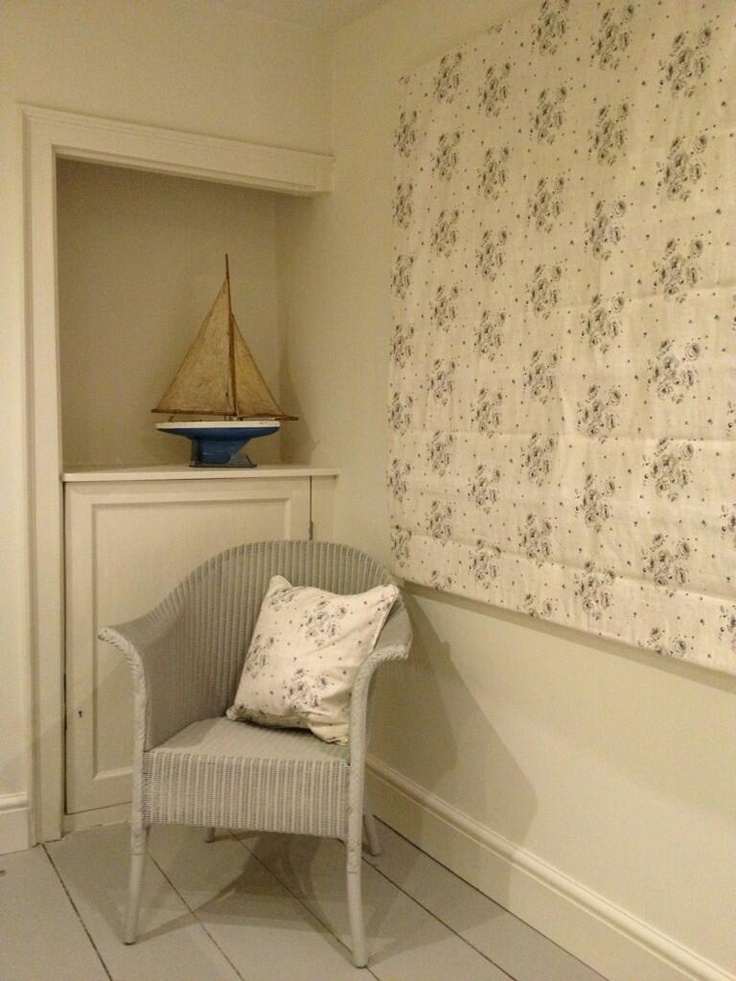 Peony and Sage Charcoal Roses blind made by Rooms With A View in their beautiful Cottage available to rent