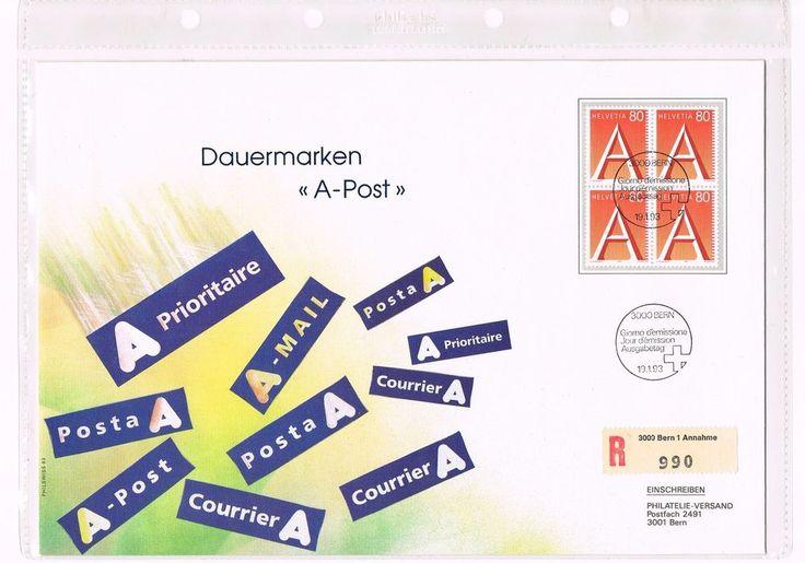 Briefmarke Helvetia 80 - Schweiz 1993 Dauermarken A-Post gestempelt Top Zustand