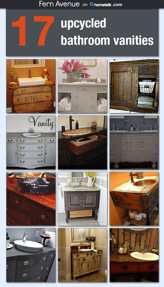34 best dresser converted to vanity images on pinterest | bathroom