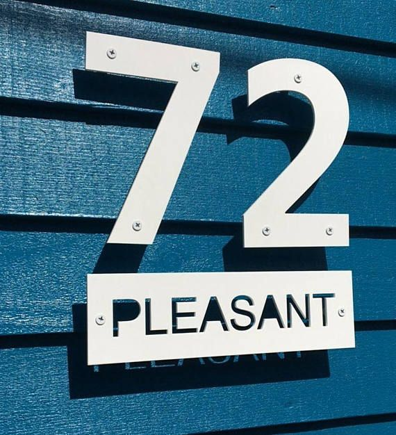 Large Exterior House Numbers