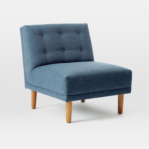 $419 - Rounded Retro Armless Chair   west elm