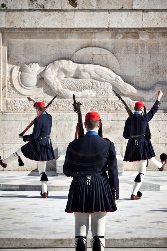 Evzone at the Tomb of the Unknown Solder, Syntagma, Athens