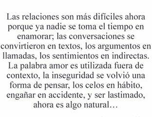 #relaciones #textos #tiempo #enamorar #conversaciones #indirectas #palabras #inseguridad #pensar #celos #hábito #habito #enganar #engañar #accidente #lastimado #natural