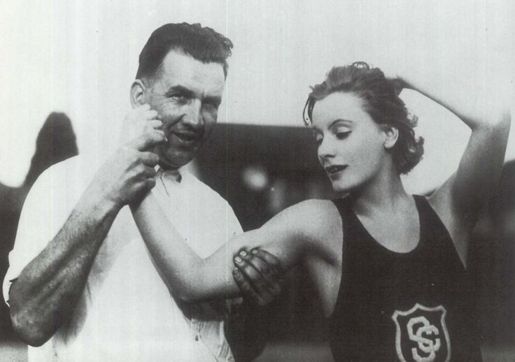 Greta Garbo with the USC track-and-field team, 1926. I am not the author of this image. Check out Garbo hanging out with Victor Sjöström, and Mauritz Stiller right here