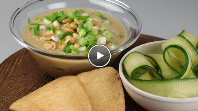 Snelle pindasoep - recept | 24Kitchen
