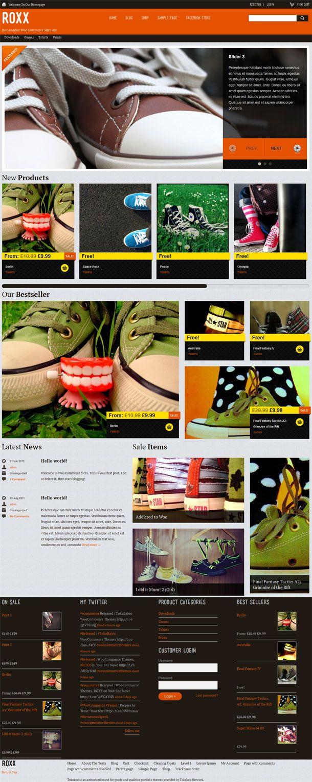 Roxx WordPress Theme By Tokokoo
